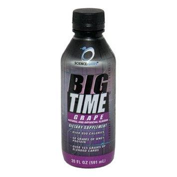 Science Foods Big Time, Grape, 20 - 20 fl oz (591 ml) bottles