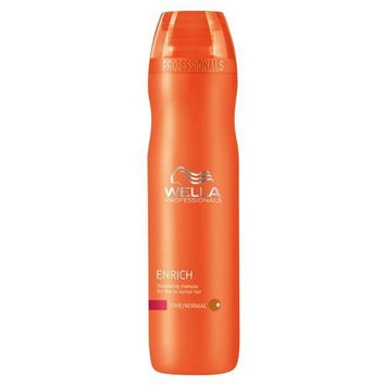 Wella Enrich Volumizing Shampoo for Fine To Normal Hair for Unisex, 10.1 Ounce