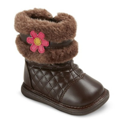 Infant Toddler Girl's Wee Squeak Pansy Fashion Boots - Brown 5