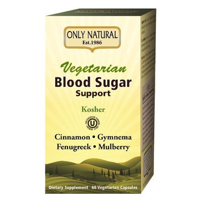 Only Natural Vegetarian Blood Sugar Support 60 Vegetarian Capsules