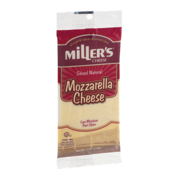 Miller's Cheese Mozzarella Sliced