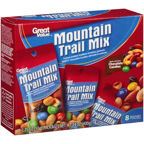 Great Value Mountain Trail Mix, 1.75 oz, 8 count