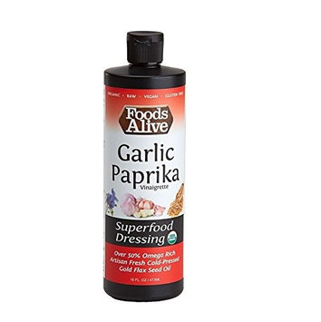 Foods Alive Organic 50% Flax Oil Super Dressing Mike's Special with Savory Garlic & Paprika 16 fl oz