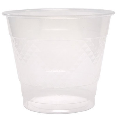 King Zak Ind Lillian Tablesettings 80280 Solid Color 9 Oz Clear Plastic Cup - 600 Per Case