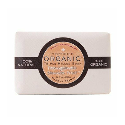 Pure Provence Bar Soap Organic Pomegranate Passionfruit 5.3 oz