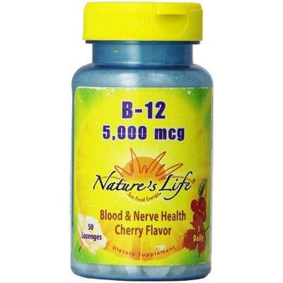Nature's Life B-12, Cherry Flavor, 5000 Mcg, 50 Lozenges