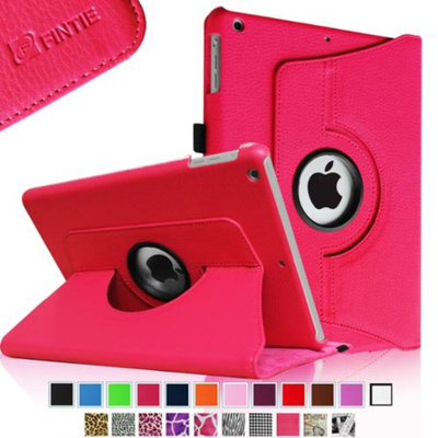 Fintie Rotating Stand Case Cover with Auto Sleep / Wake Feature for iPad Air / iPad 5 (5th Generation), Magenta