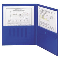 Smead 8-1/2 x 11 Poly Two Pocket Folder with Security Pocket