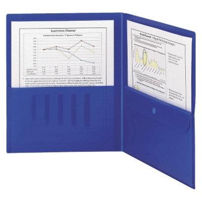 Smead 8-1/2 x 11 Poly Two Pocket Folder with Security Pocket