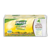 Marcal Napkins Luncheon, White, 1 Ply, Pack of 400