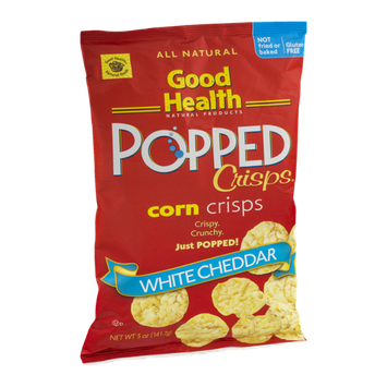 Good Health Popped Crisps Corn Crisps White Cheddar