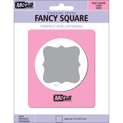 Mc Gill 399669 Stacking Lever Punch-Fancy Square 1.75 in.