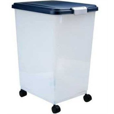 IRIS Airtight Pet Food Container, Navy Blue, 69 Quarts