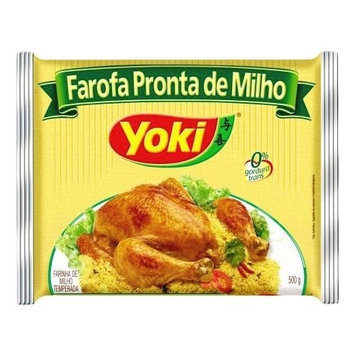 Seasoned Corn Flour - Yoki - 17.6 oz | Farofa Pronta de Milho Yoki - 500g - (PACK OF 10)