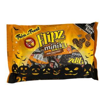 Flipz Chocolate Covered Pretzels Minis Snack Size - 25 CT