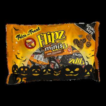 Flipz Chocolate Covered Pretzels Minis Snack Size - 25 CT