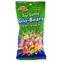 Energy Club Sour Gummy Glo Bears 9 oz. (Pack of 6)