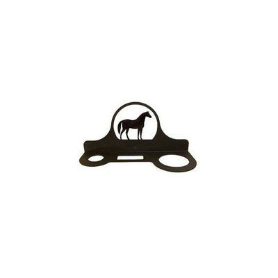 Village Wrought Iron HD-68 Hair Care Caddy - Standing Horse Silhouette