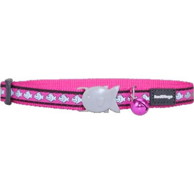 Red Dingo CC-RF-HP-SM Cat Collar Reflective Hot Pink