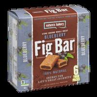 Nature's Bakery Fig Bar Stone Ground Whole Wheat Blueberry - 6 CT