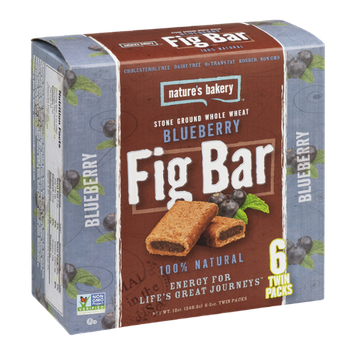 Nature's Bakery Fig Bar Stone Ground Whole Wheat Blueberry - 6 CT