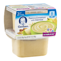 Gerber 2nd Foods Pears & Cinnamon with Oatmeal - 2 CT