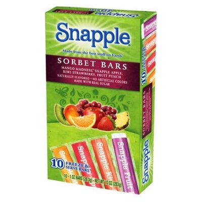 Snapple Sorbet Freezer Pops, 10-Count (Pack of 12)