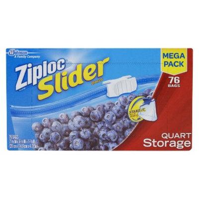 Ziploc Mega Storage Slider Quart 76 ct
