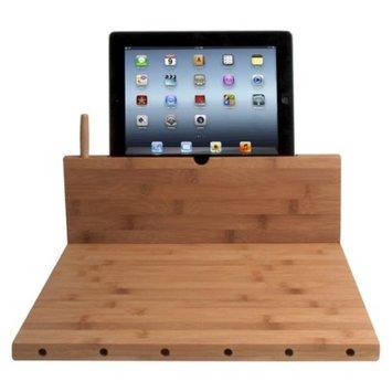 CTA iPad Knife Storage Bamboo Cutting Board with Stand - Brown (PAD-