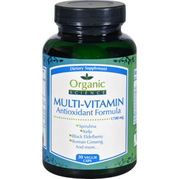 Organic Science Multi-Vitamin Formula - 30 Vegetarian Capsules