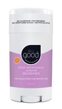 All Good Deodorant Rose Geranium & Jasmine Elemental Herbs 2.5 oz Stick