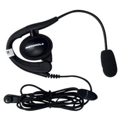 Motorola Earpiece with Boom Microphone for Two Way Radios - Black
