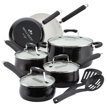 Paula Deen Savannah Aluminum Non-Stick 12 Piece Cookware Set - Black