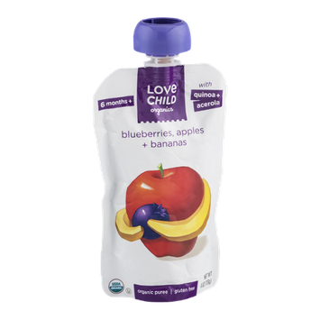 Love Child Organics Puree Blueberries, Apples + Bananas
