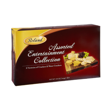 Roland Assorted Entertainment Collection 6 Varieties of Crackers & Water Crackers
