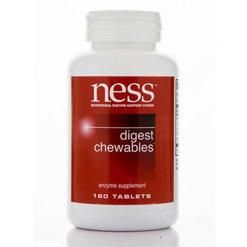 Ness Enzyme's Digest Chewables 180 tabs by Ness Enzymes