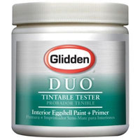 Glidden DUO 8 oz. Pure White Eggshell Paint and Primer Sample