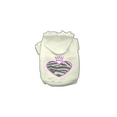 Ahi Zebra Heart Rhinestone Hoodies Cream S (10)
