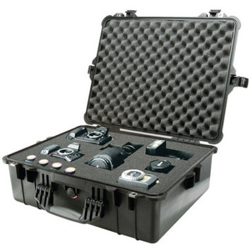 Pelican 1600 Watertight Hard Case with Dividers - Black