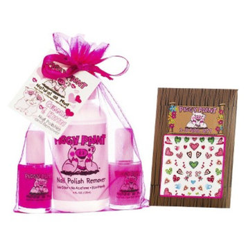 Rockhouse Industries, Inc Piggy Paint Cuddles and Kisses Non-Toxic Nail Polish, Polish Remover