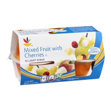 Ahold Mixed Fruit with Cherries in Light Syrup - 4 CT