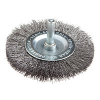 Forney 60017 Wheel Brush Fine Crimped Wire with 1/4 Inch Shank 3 Inch