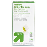 up & up up&up Nicotine Polacrilex 2 mg Mint Gum- 20 Count
