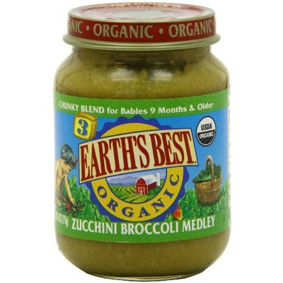 Earth's Best Organic Baby Food, Zucchini Broccoli Medley, 6 Ounce (Pack of 12)