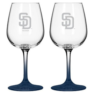Boelter Brands MLB Padres Set of 2 Wine Glass - 12oz