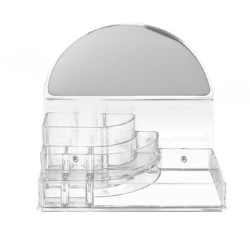 SOHO 3 Step Acrylic Organizer with Half Circle Mirror, 1 ea