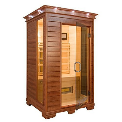 TheraSauna TS4544 2-Person Infrared Health Sauna, 48 by 45 by 74-Inch, Warm Mahogany (Discontinued by Manufacturer)