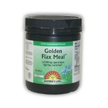 Nature's Life Flax Seed Meal, Golden, Powder, 8 Ounce
