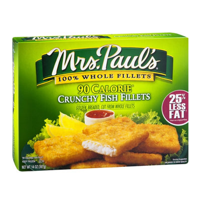Mrs. Paul's Fish Fillets Crunchy 90 Calorie