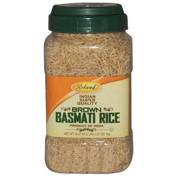 Roland Brown Basmati Rice, 35.2-Ounce jug (Pack of 4)